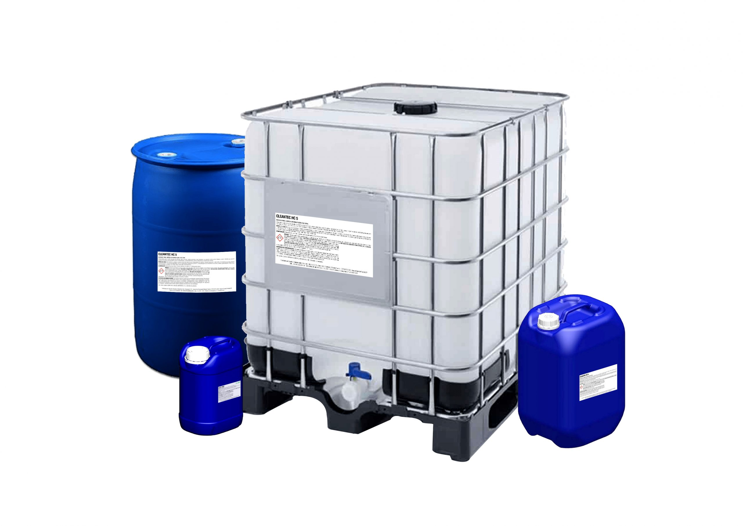 Agente de limpeza Cleantec HC 05 é um desengraxante alcalino e seguro