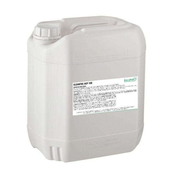 Cleantec ACP 100 é um agente protetivo base óleo com excelente propriedade anticorrosiva e também utilizado como lubrificante em geral. Elimina o acúmulo de umidade em peças