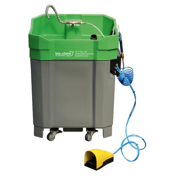 O Sistema PROLAQ combina uma máquina de limpeza em circuito fechado