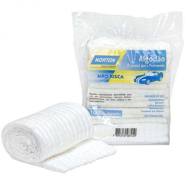 Produto produzido com fibras 100% algodão.